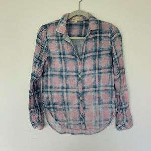 Pretty Cloth & Stone plaid cotton shirt S